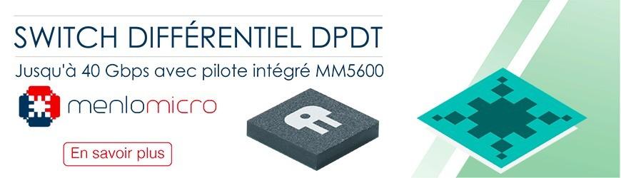 Commutateur MM5600 basé sur la technologie Ideal Switch de Menlo Micro