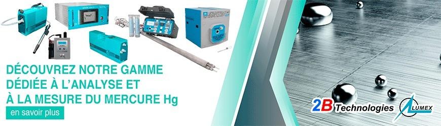 Gamme dédiée à l'analyse et la mesure du mercure Hg