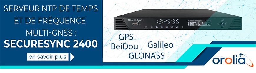 Serveur NTP de temps et de fréquence multi-GNSS : SecureSync 2400