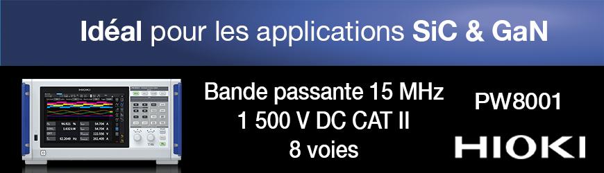 Analyseur de puissance DC, 1 500 V, 15 MHz, précision de 0,03%
