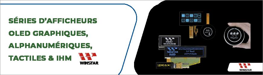 Afficheurs OLED aux applications domotiques, IoT, instrumentations et bien d'autres
