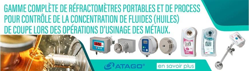 Réfractomètres pour contrôle de la concentration de fluides (huiles) de coupe