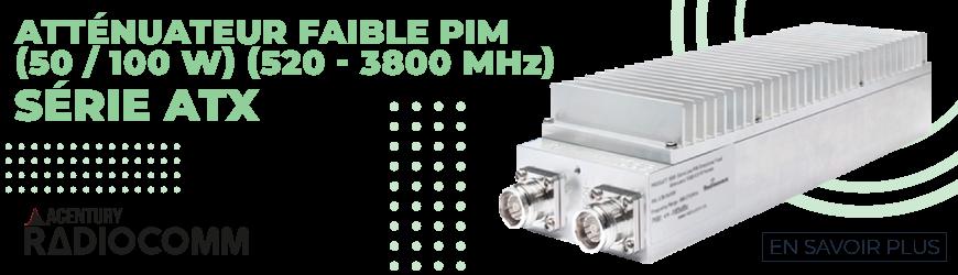 Atténuateurs faible PIM de 520 à 3800 MHz