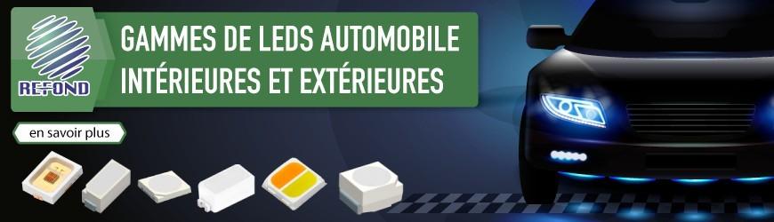 Utilisez les LEDs Refond pour l'éclairage intérieur et extérieur des véhicules