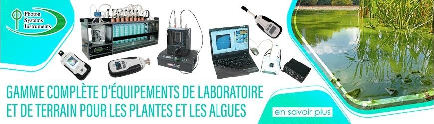 Équipements de laboratoire et de terrain pour les plantes et algues
