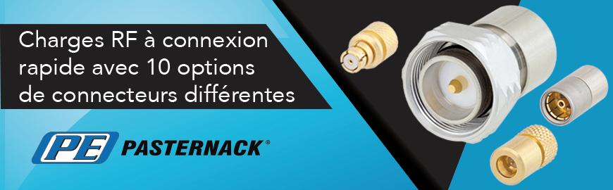 Charges RF Quick Connect avec différentes options de connecteurs - Pasternack