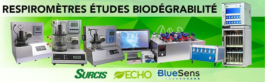 Respiromètres pour études biodégrabilité