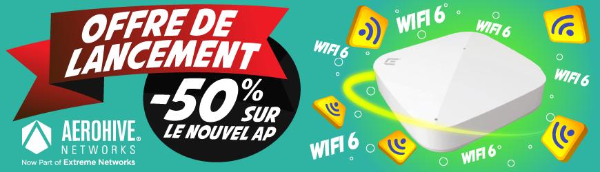 -50% sur le nouveau point d'accès indoor Wifi 6 AP305C  AEROHIVE