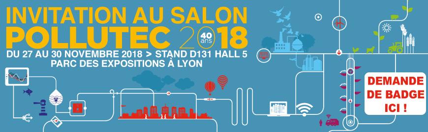 Rejoigniez-nous au salon Pollutec 2018 Hall 5 Stand D131 à LYON !