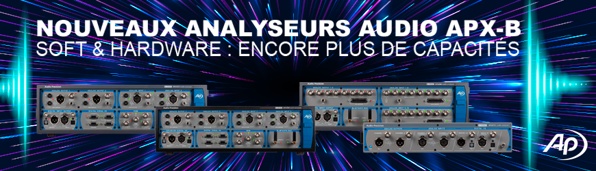 AUDIO PRECISION Nouveaux analyseurs audio APX