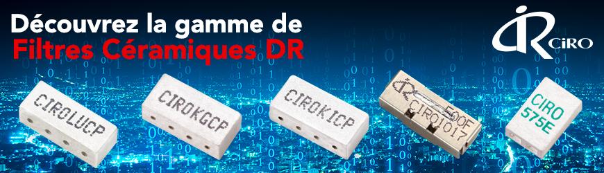 CIROCOMM Filtres céramiques DR pour applications télécoms
