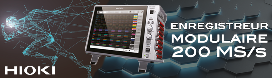 Découvrez l'enregistreur modulaire 200 MS/s | HIOKI