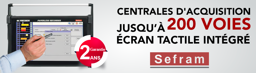 Centrales d'acquisition SEFRAM disponibles chez ES