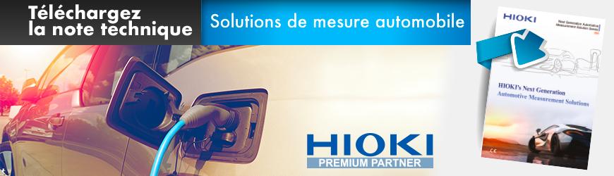 Solutions de mesure sur véhicule électrique de nouvelle génération | HIOKI