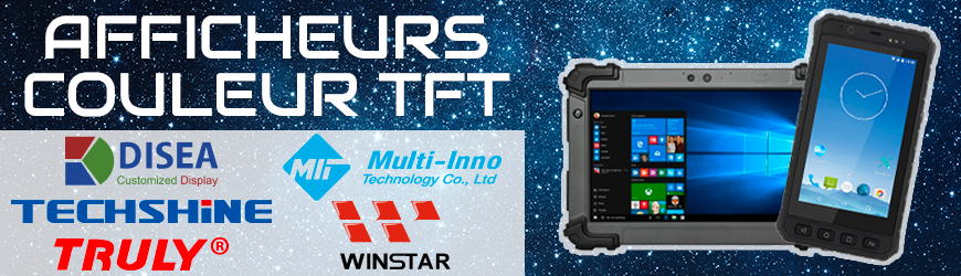 Afficheurs TFT à interface MIPI | TRULY | TECHSHINE | WINSTAR | MULTI-INNO | DISEA POWERTIP