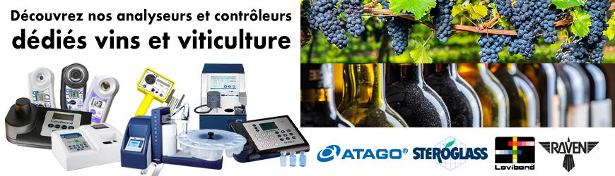 Gamme d'analyseurs et de contrôleurs vins et viticulture | ATAGO, LOVIBOND WATER, RAVEN & STEROGLASS