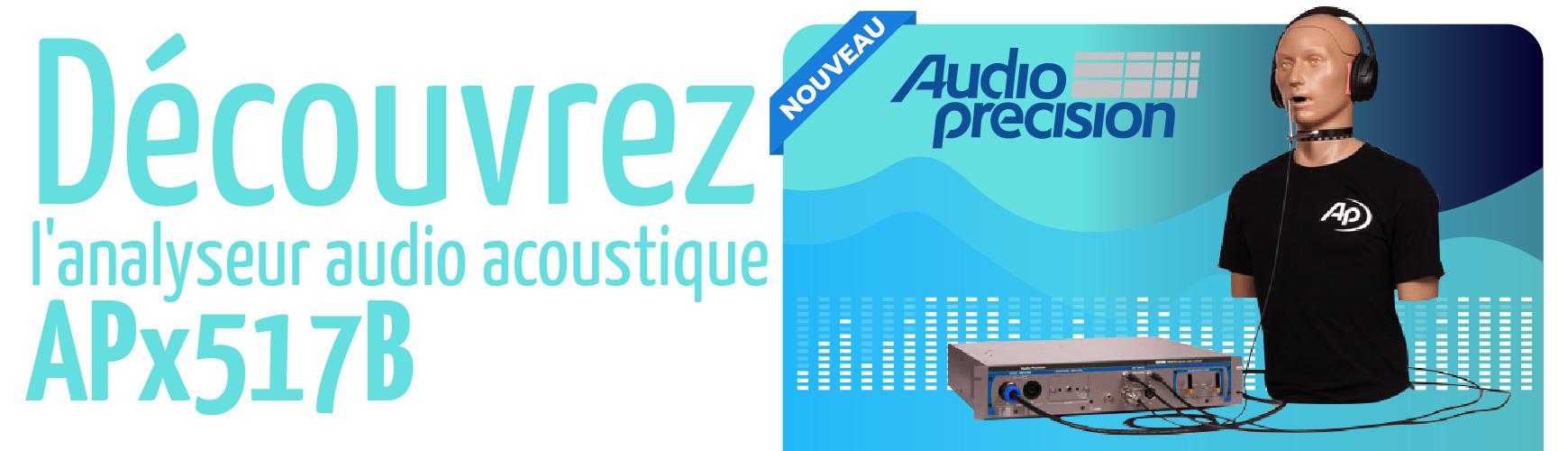 Analyseur acoustique APx517B - Audio Precision