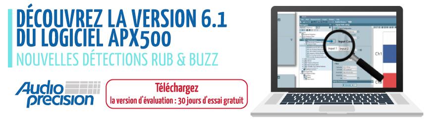 Version d'évaluation V6.1 du logiciel APx500 et profitez de 30j d'essai gratuit - Audio Precision