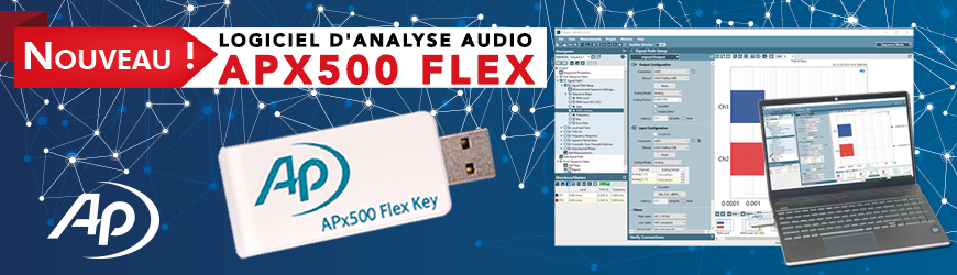 Logiciel d'analyse audio : APx500 FLEX | AUDIO PRECISION