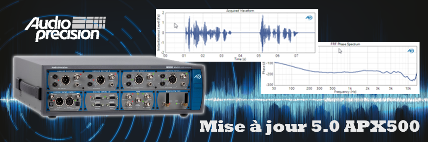 Demandez la mise à jour de votre logiciel APx500 | Audio Precision