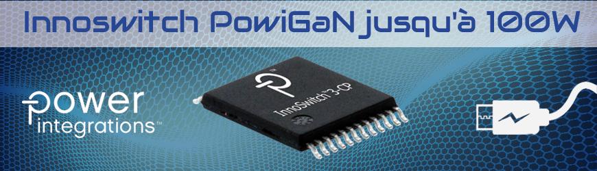 Nouveau circuit intégré PowiGaN jusqu'à 100 MHz | POWER INTEGRATIONS