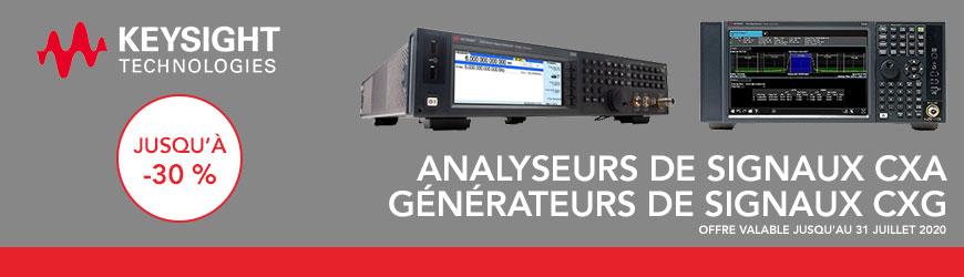 -30% sur l'analyseur et le générateur de signaux CXA CXG de Keysight Technologies