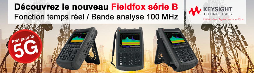 Keysight : Analyseur RF 5G portable 9 GHz Fieldfox série B