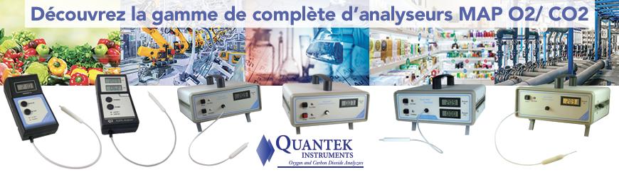 Gamme complète d'analyseurs MAP O2/CO2 | Quantek