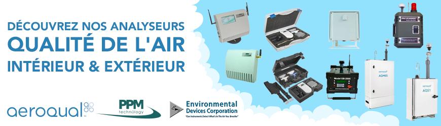 Analyseurs qualité de l'air intérieur et extérieur
