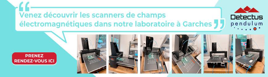 Scanners dédiés à la pré-qualification CEM location et laboratoire à Garches - DETECTUS