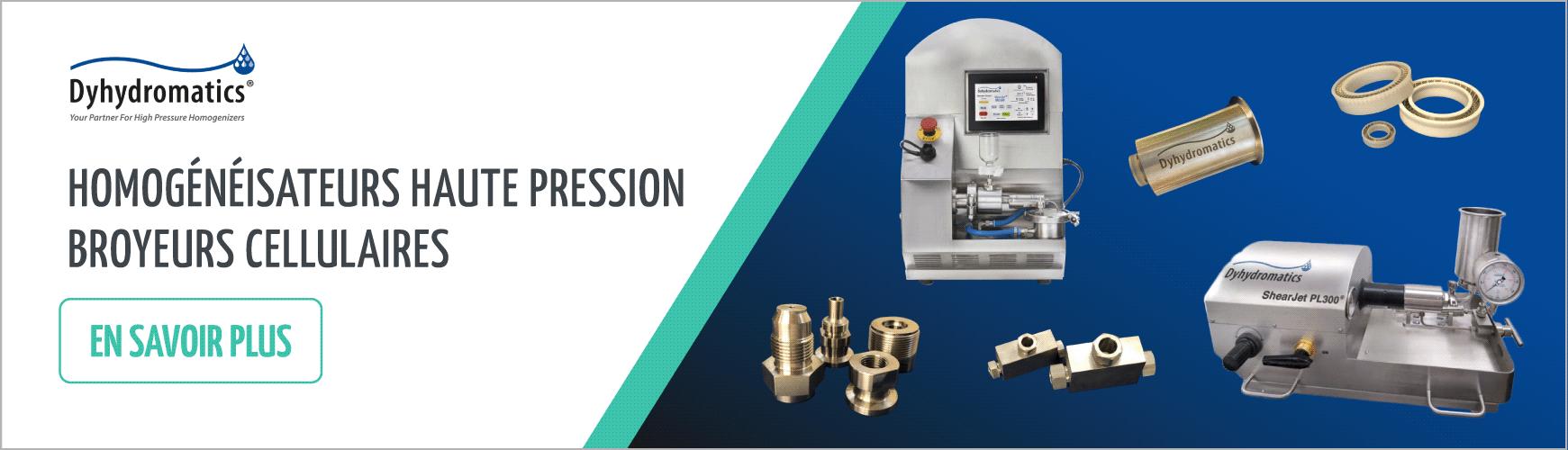 Homogénéisateurs haute pression broyeurs cellulaires - DYHYDROMATICS