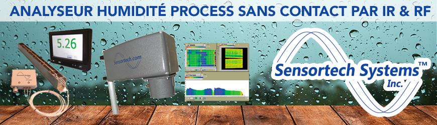 Analyseur humidité process sans contact par IR et RF - SENSORTECH