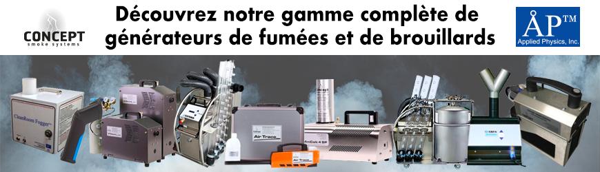 Gamme complète de générateurs de fumées et de brouillards   CONCEPT SMOKE & APPLIED PHYSICS