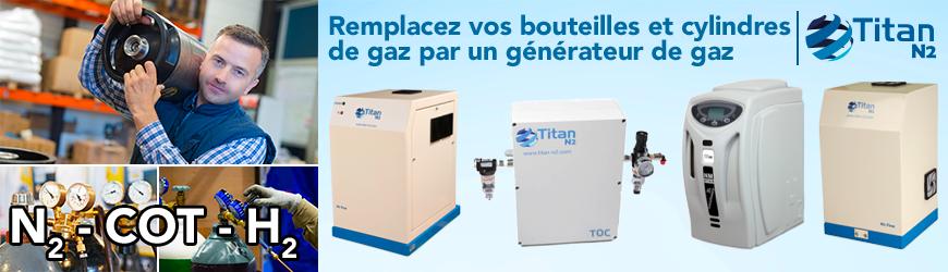 TITAN N2 Remplacez vos bouteilles de gaz par des générateurs de gaz